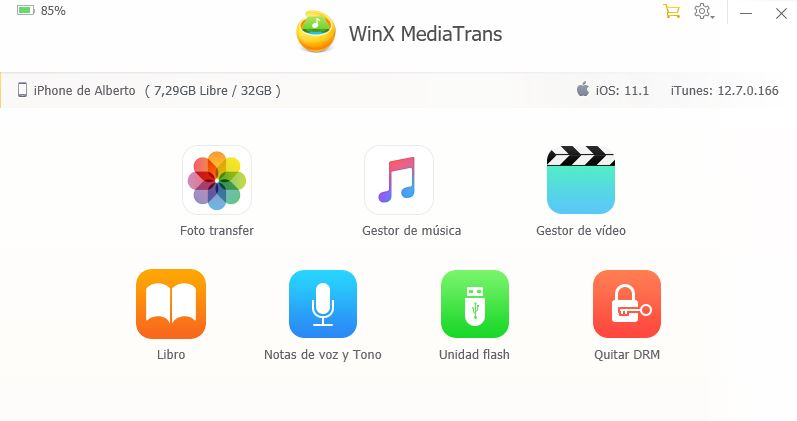 WinX MediaTransfer, alternativa a iTunes