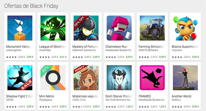 black friday en google play