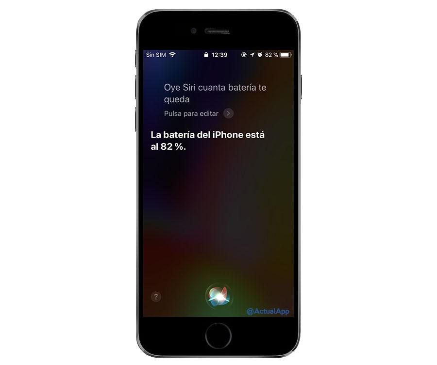 porcentaje de la batería del iphone x