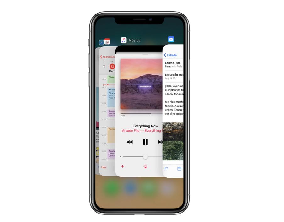 Forzar cierre en el iPhone X