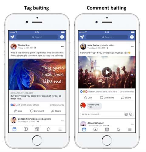 facebook castigara