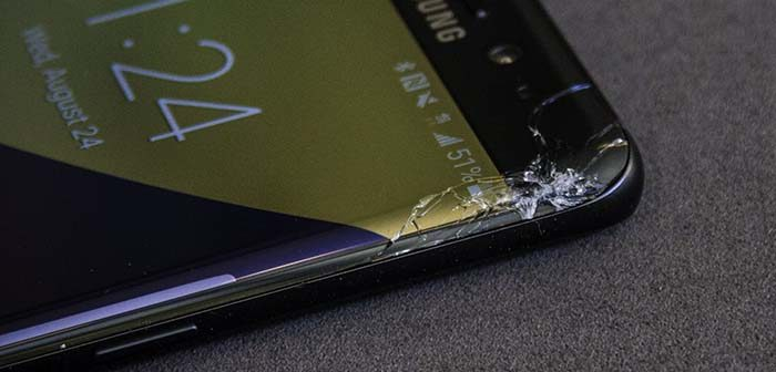 reparar una pantalla rota