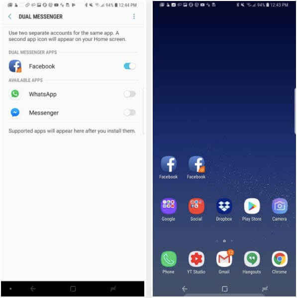 android oreo en el galaxy s9
