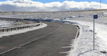 carreteras se han cortado por culpa de la nieve