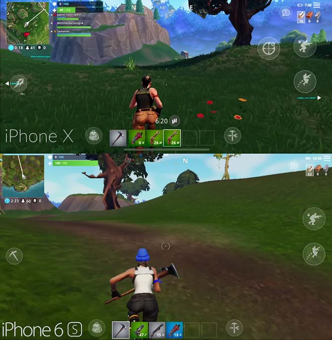 diferencias graficas entre fortnite