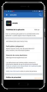 acceso de datos en facebook