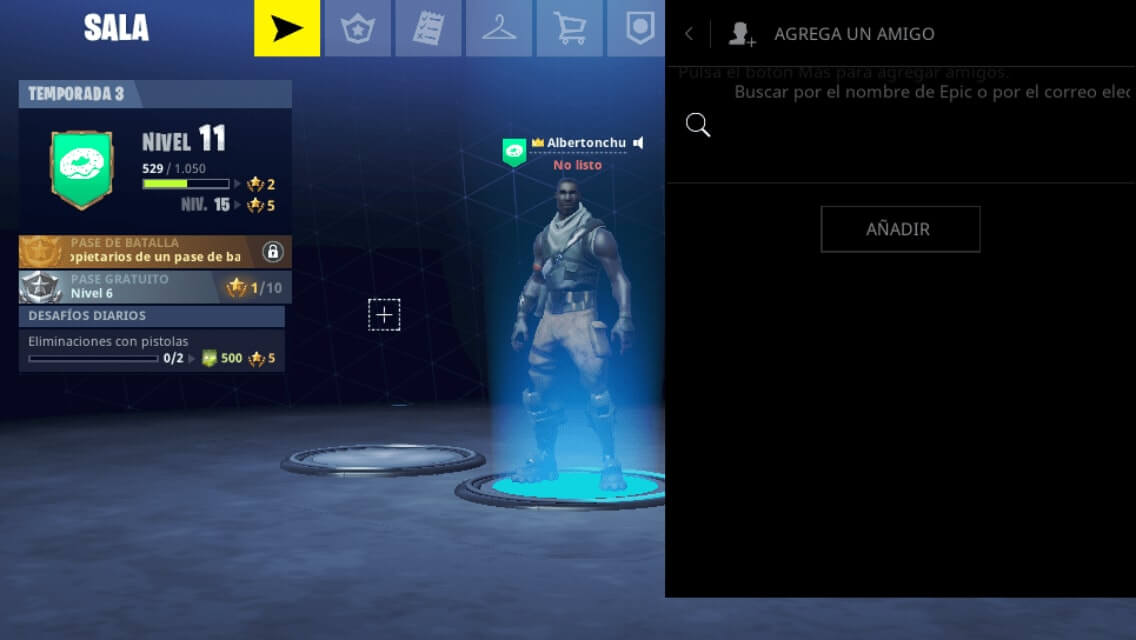 amigo en fortnite