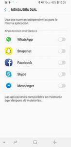 instalar dos whatsapp en el galaxy s8 o s9