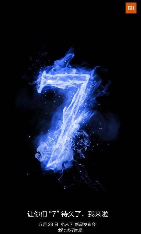 xiaomi mi 7 se presentara el 23 de mayo