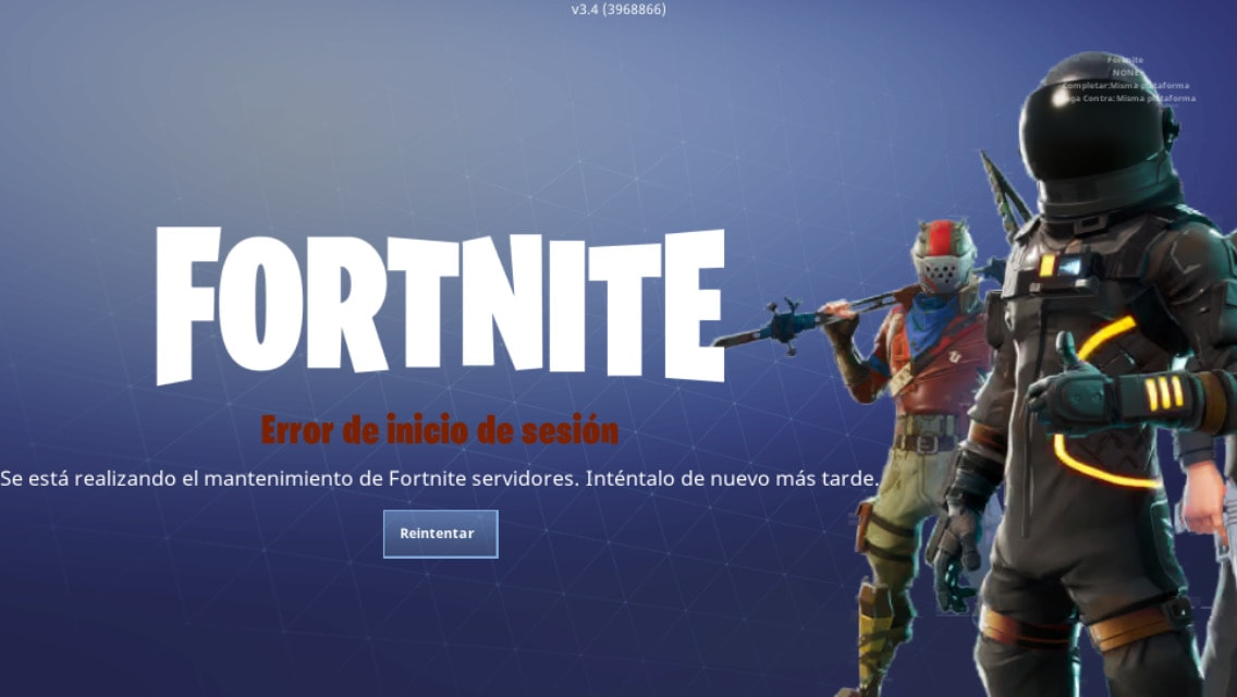 fortnite no funciona