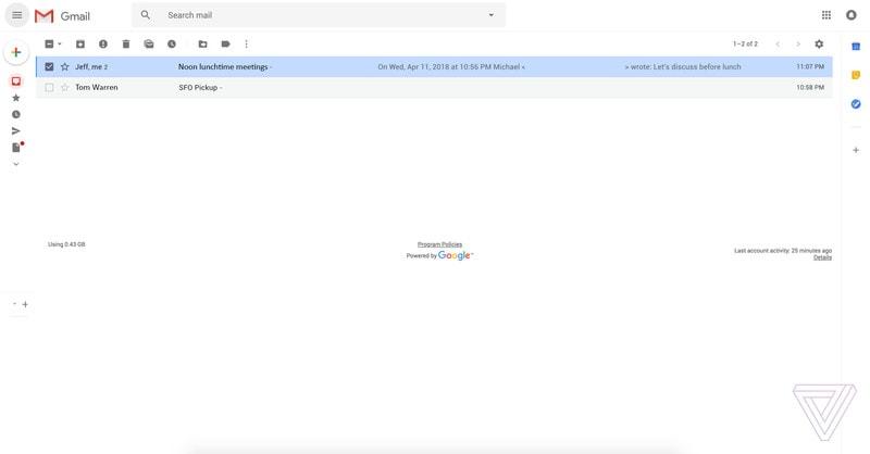 nuevo diseno de gmail