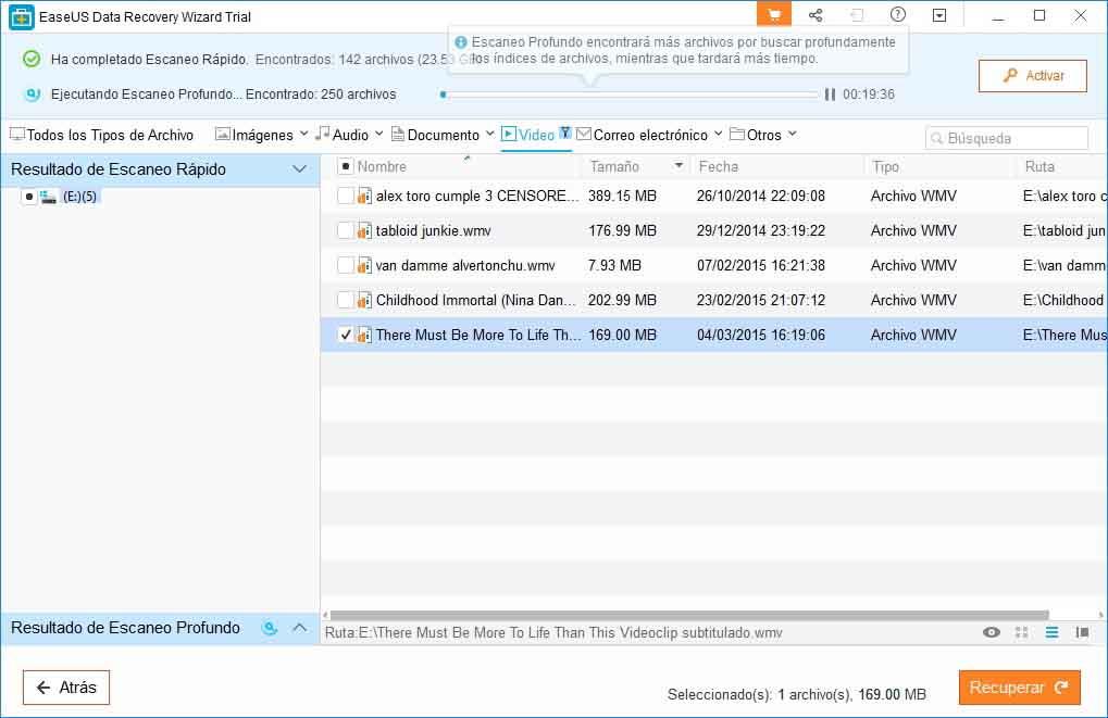 recuperar archivos borrados en un usb