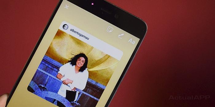 fotos de instagram en las historias