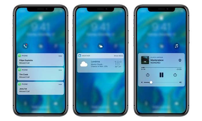 pantalla de bloqueo del iphone en ios 12