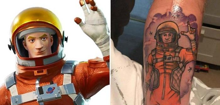 tatuaje de fortnite