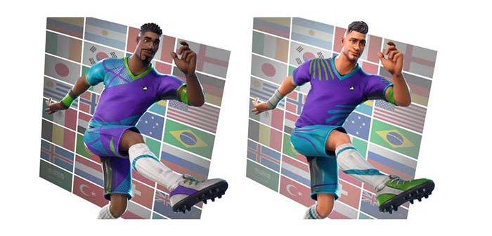 camisetas de futbol en fortnite