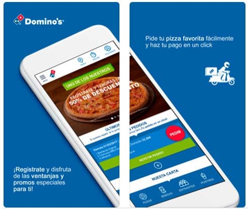 descargar la app de dominos pizza