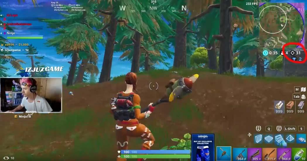 ninja mata a 31 rivales