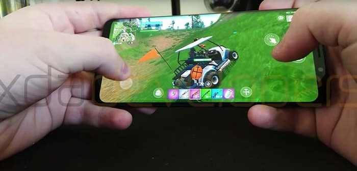 primer gameplay de fortnite para android