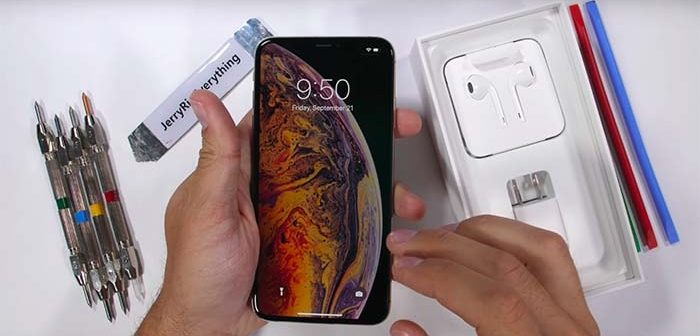 test de resistencia del iphone xs max