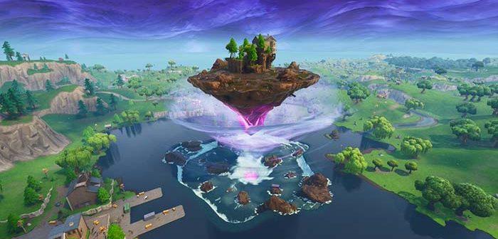 isla flotante de fortnite