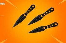 lanzar cuchillos en Fortnite