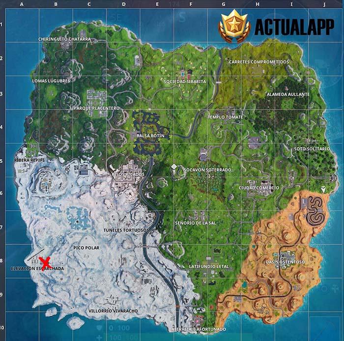 mapa con la estrella secreta de la semana 2