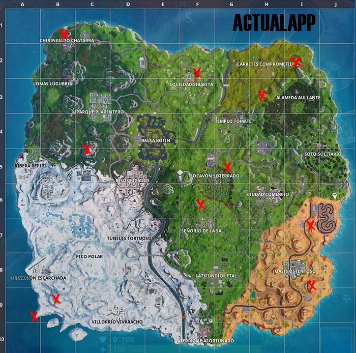 mapa con las ubicaciones prohibidas para bailar final