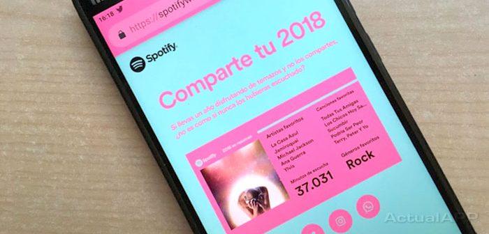 resumen de spotify 2018