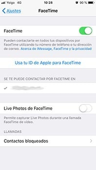desactivar facetime