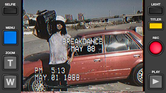 grabar con efecto VHS