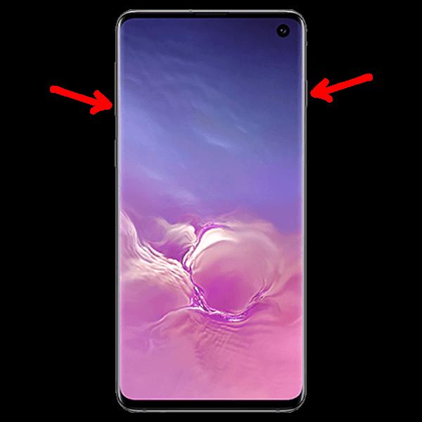 hacer una captura de pantalla en el Samsung Galaxy S10
