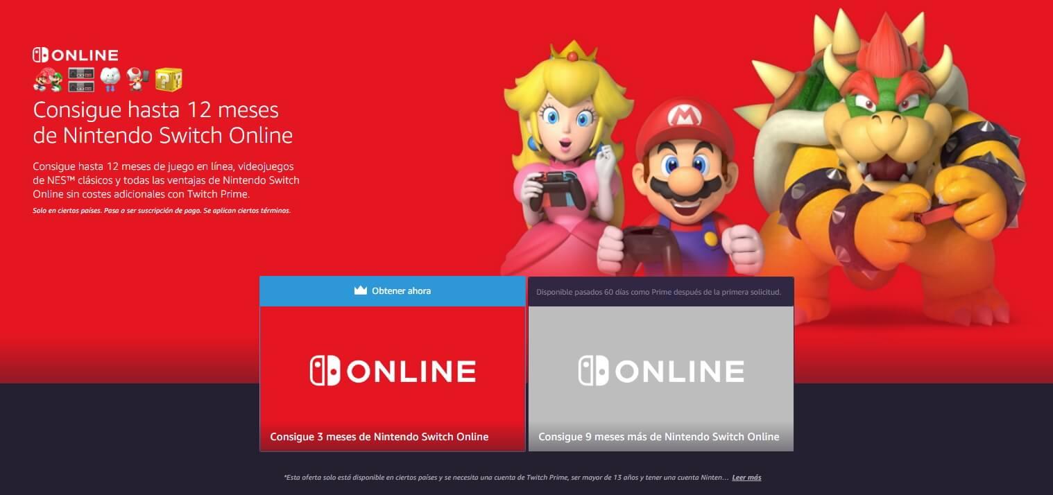 nintendo switch online gratis amazon twitch