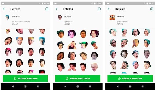 stickers de youtubers en whatsapp