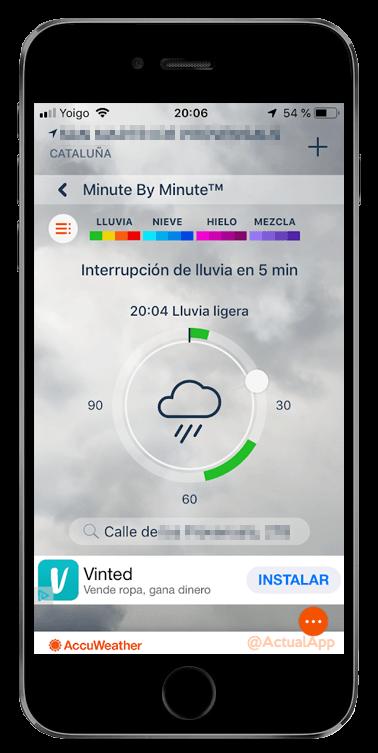 el pronóstico de lluvias minuto a minuto