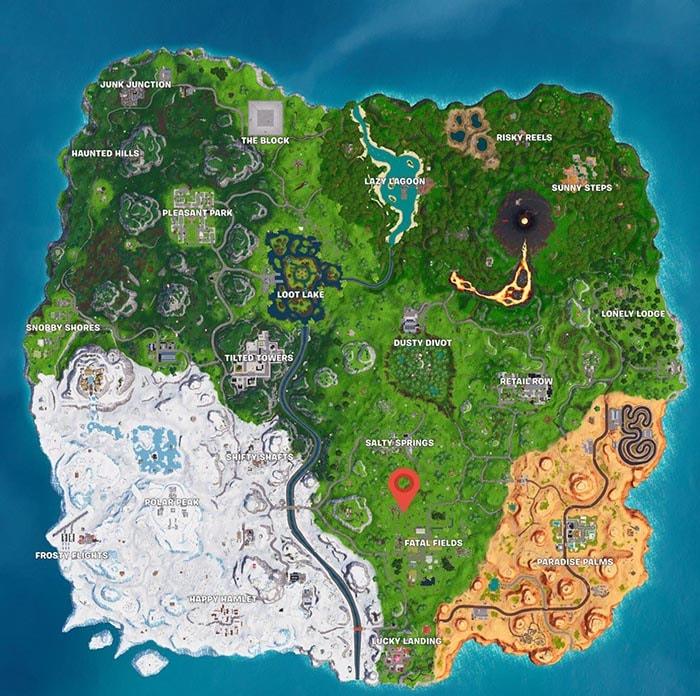 mapa que hay en chiringuito chatarra