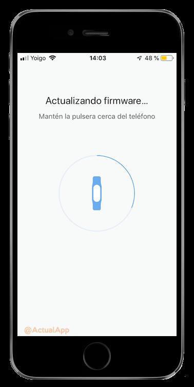 actualizar el firmware de la Xiaomi Mi Band 4