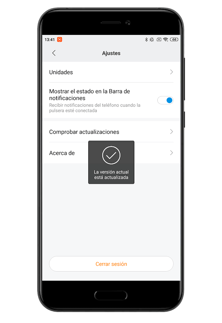 mi fit no actualiza firmware mi band 4