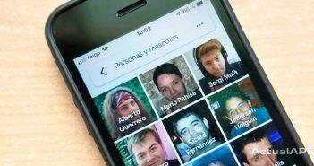 agrupación por caras de Google Fotos