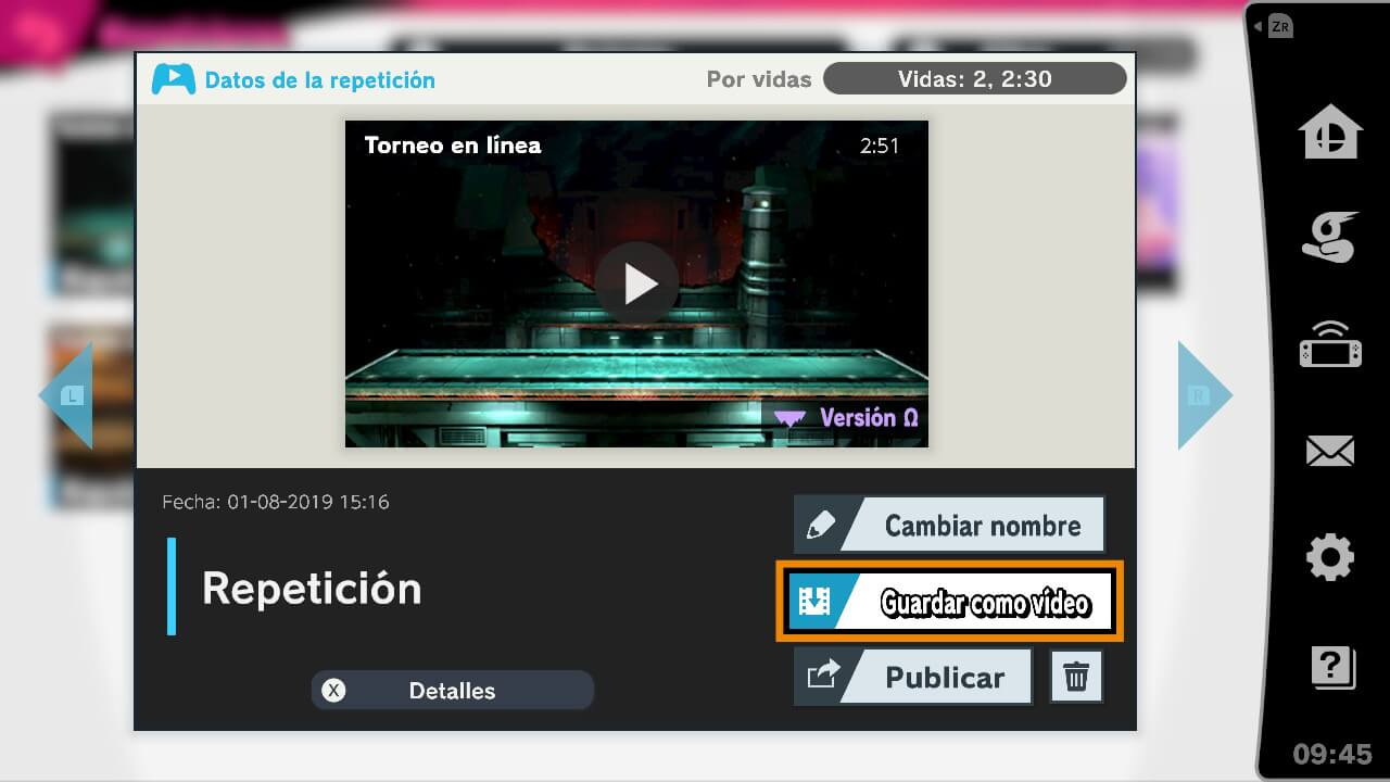 extraer los vídeos de Super Smash Bros. Ultimate