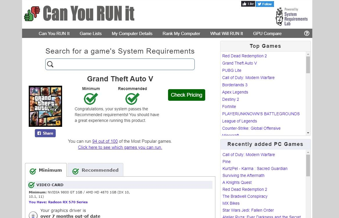 ordenador compatible con juego