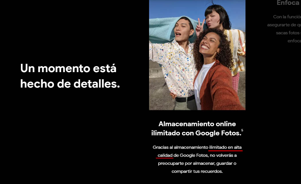 pixel google fotos