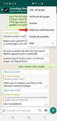 silenciar un grupo de whatsapp para siempre