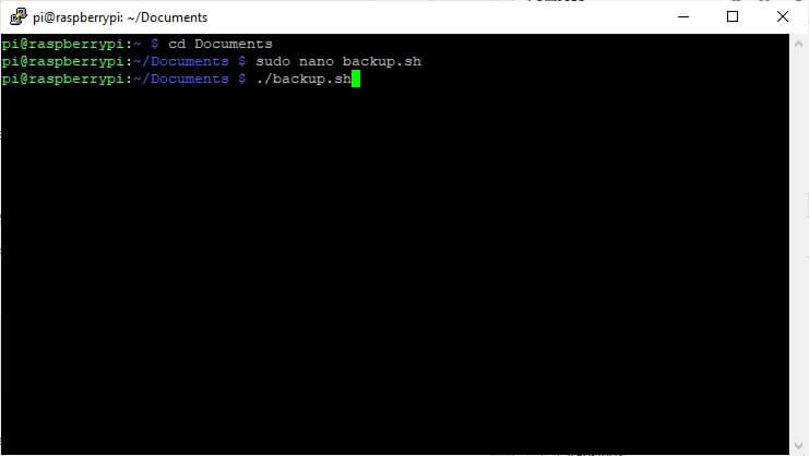 ejecutar script en raspbian