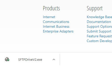sftp drive .exe instalable