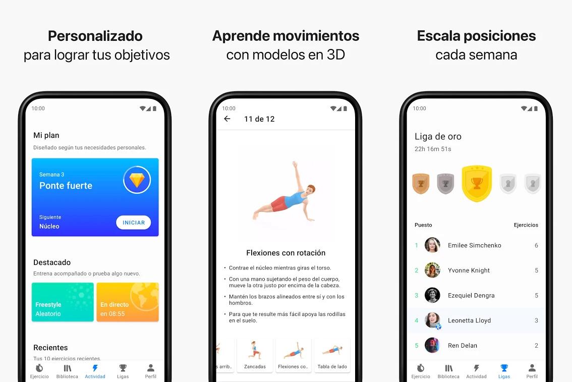 seven ejercicios app