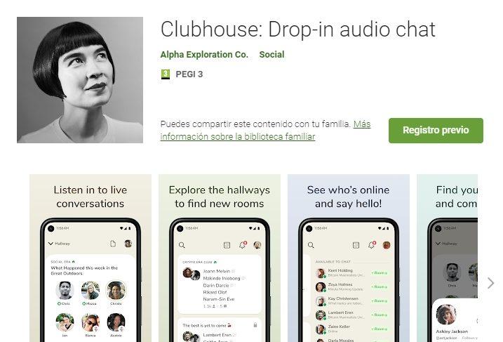 clubhouse google play registro previo