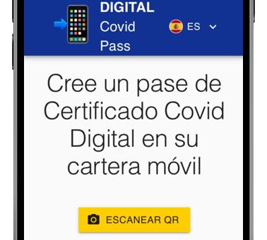 covid pass generar pagina web
