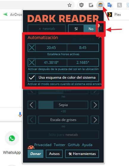 dark reader chrome