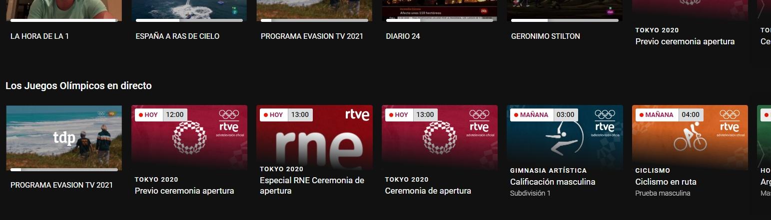 web rtve play juegos olímpicos